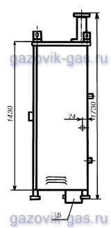 Габаритный чертеж ГРПШ-32-СГ