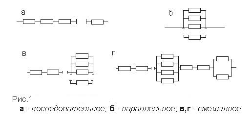 Схемы соединения элементов
