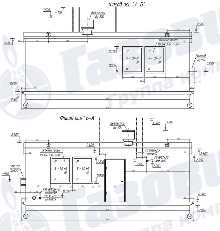 Схема фасада ТКУ-1200