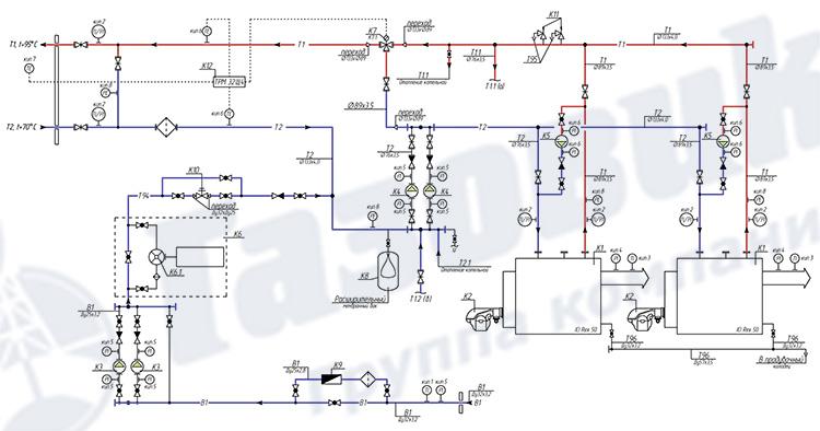 Тепломеханическая схема ТКУ-