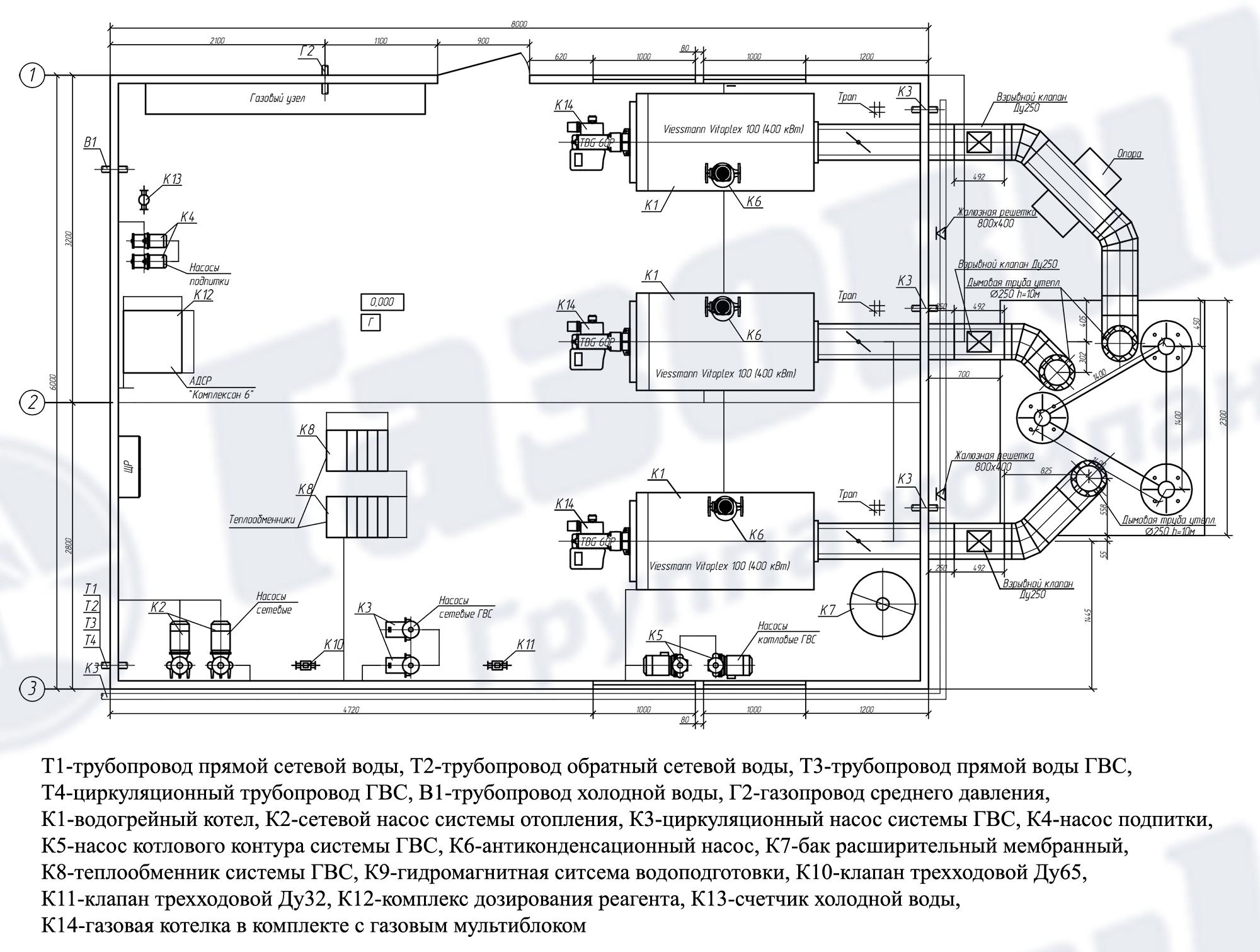 Тепломеханическая Схема Котельной