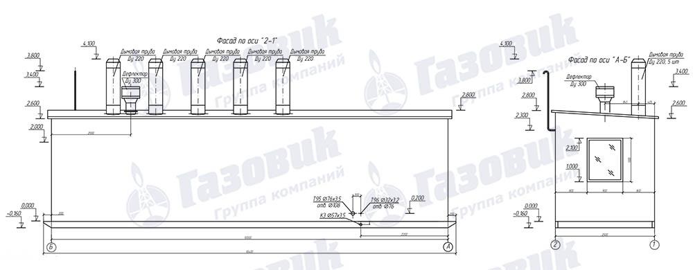 Схема фасада ТКУ-500