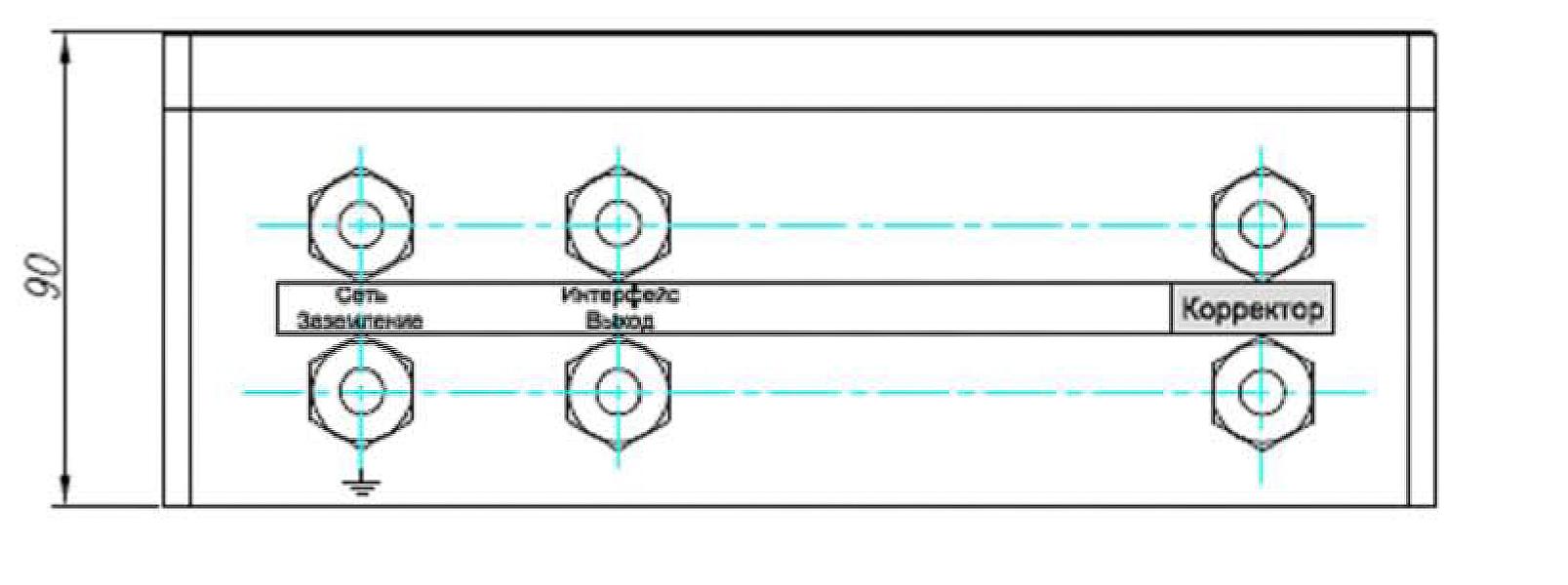Габаритный чертеж блока питания БПЭК-02/М