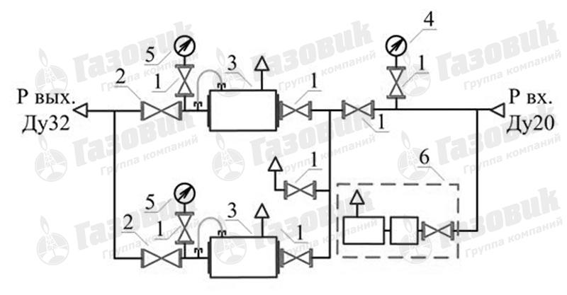 Функциональная схема ГРПШ-1-2Н