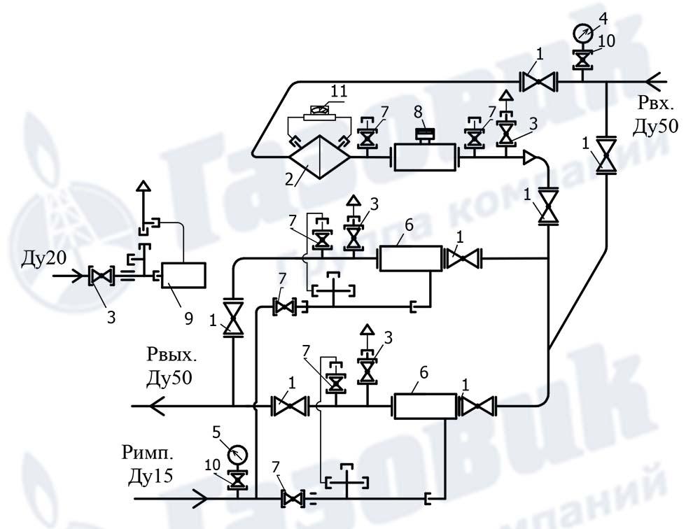 Схема установки типа