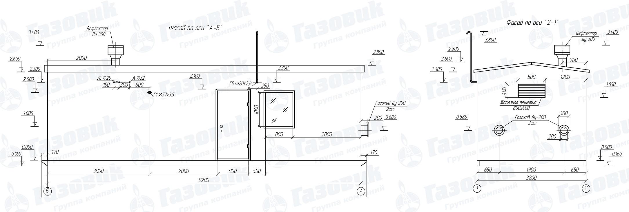 чертеж каркаса блочно-модульной котельной
