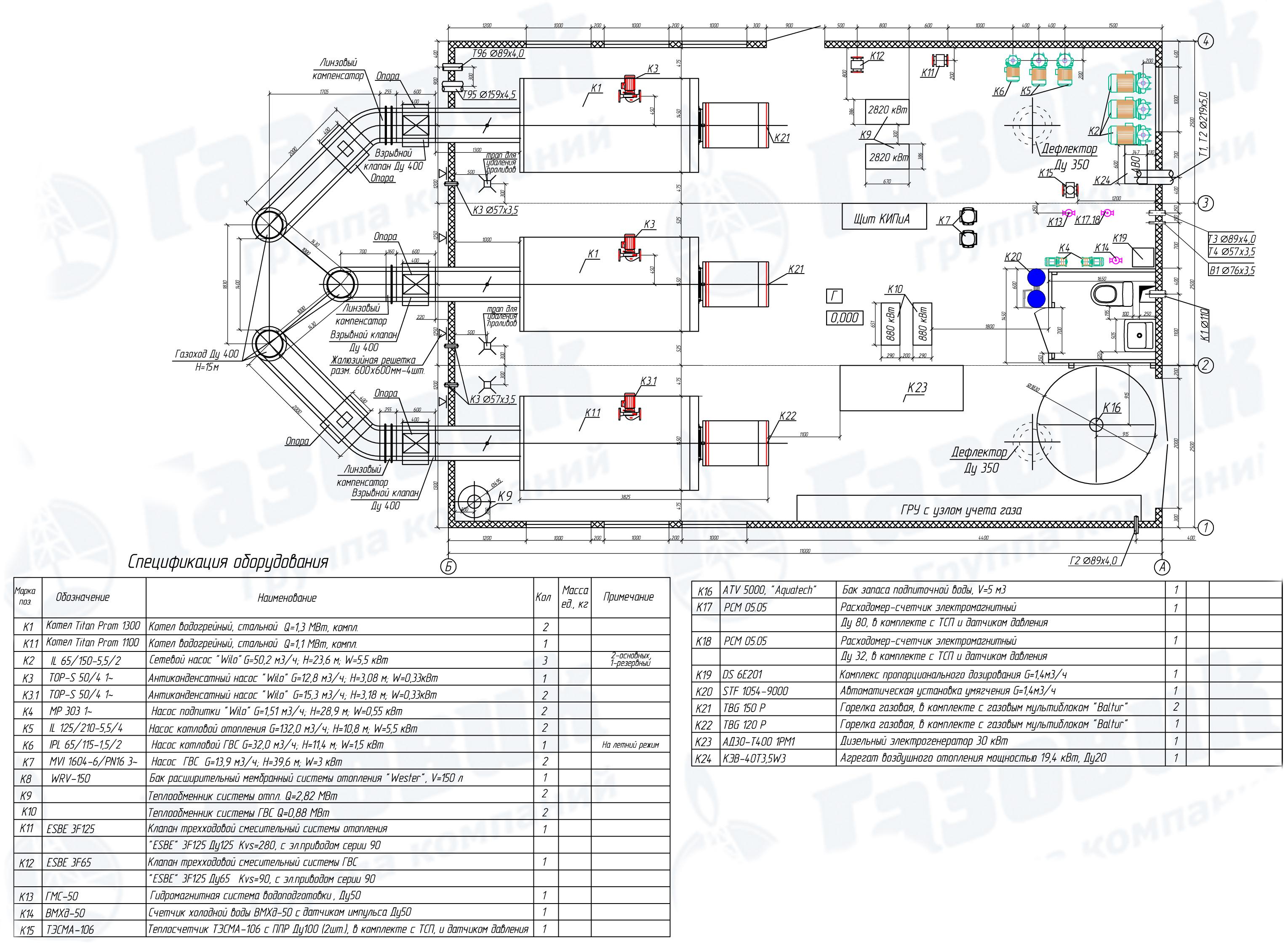 проектирование освещения модульных котельных нормы