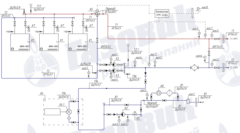 схема блочных газовых котельных